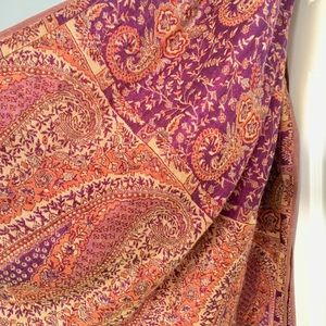 Accessories - Fringe Woven Paisley Pashmina